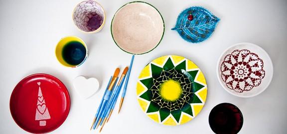 Dekorationsmålning på keramik