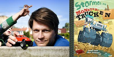 Daniel Sjölin läser ur sin nya barnbok Stormen och monstertrucken!