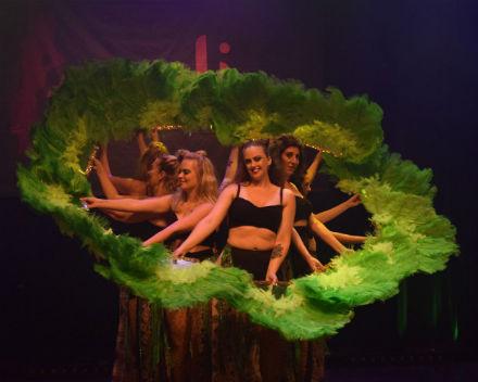 Orientalisk dansshow med Layalis elever
