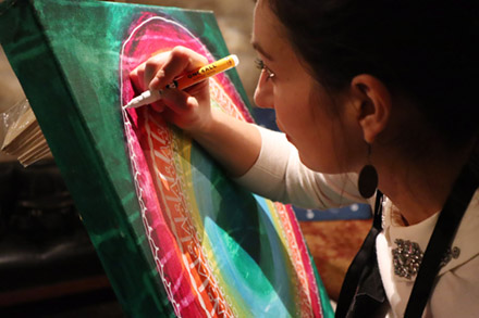 Workshop i Mandalamåleri