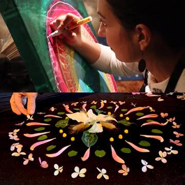 Mandala Workshop Med måleri och blommor!