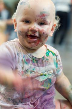 En tå i det blå – babymålning